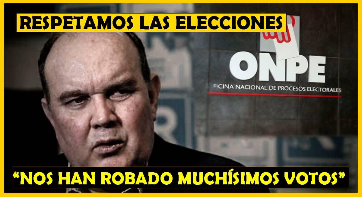 López aliaga respetará elecciones pero le han robado