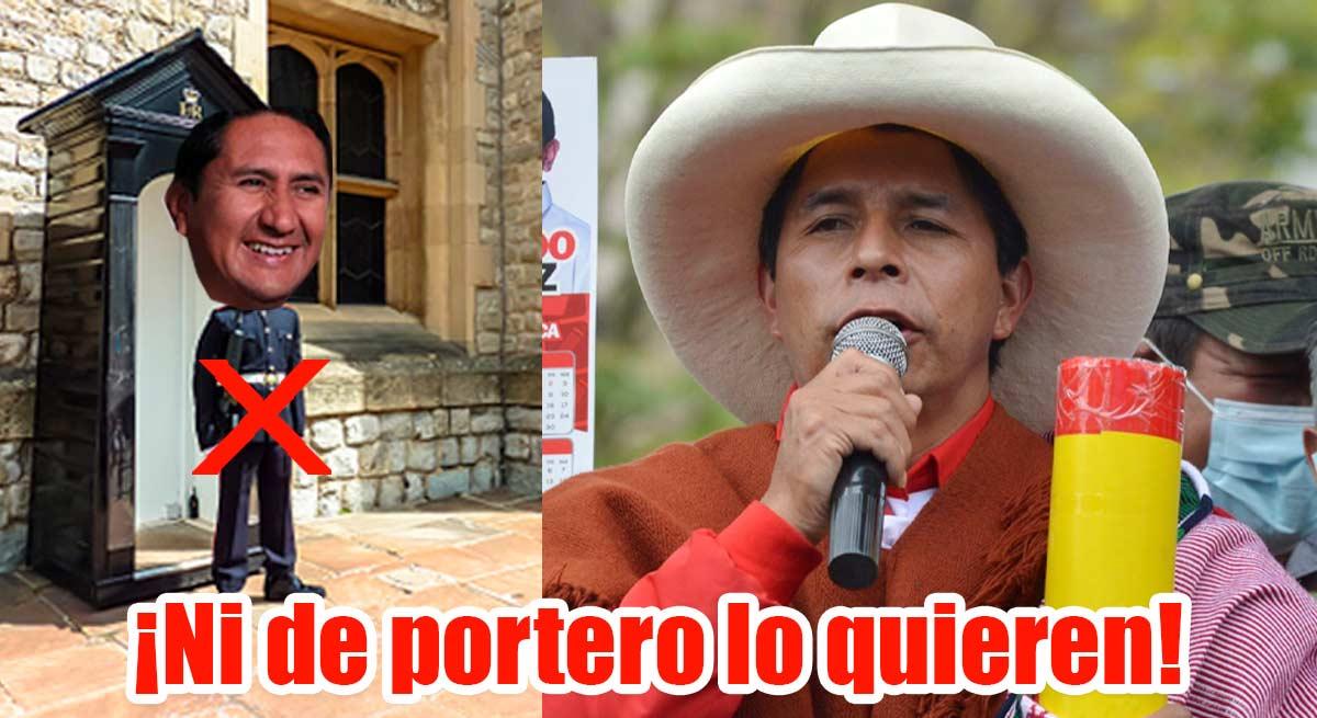 """Pedro Castillo sobre Vladimir Cerrón: """"No será ni el portero del Estado"""""""