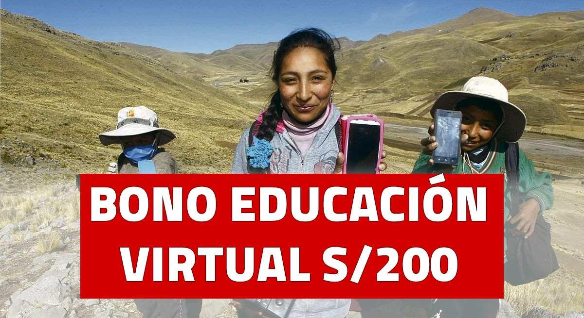 BONO EDUCACIÓN VIRTUAL de S/200: Conoce Quiénes accederían