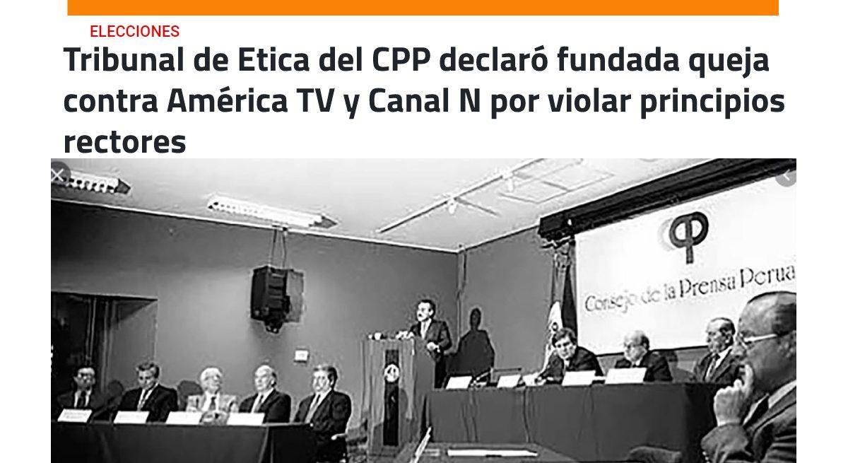 Tribunal de Ética declaró fundada queja contra América TV por presunto apoyo a Fuerza Popular