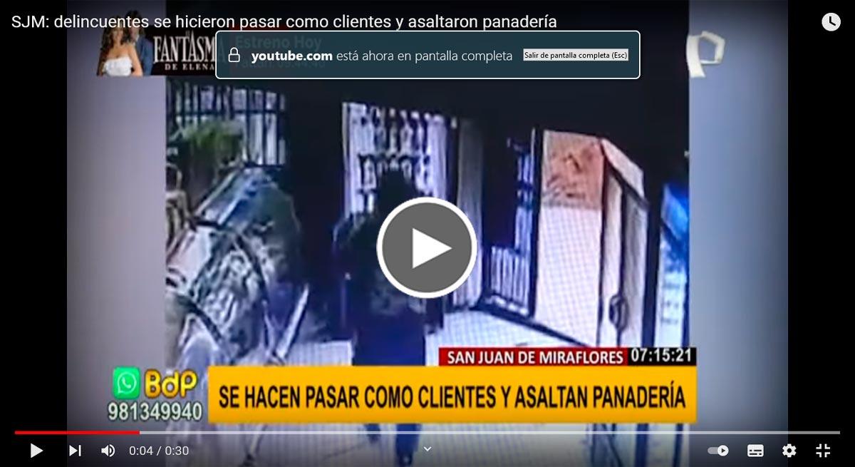 Delincuentes atienden a clientes de panadería mientras roban [VIDEO]